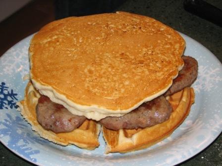 Waffle sandwich 2