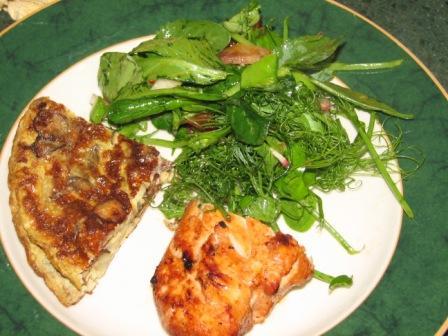 Ic3 pea shoot salad and tortilla