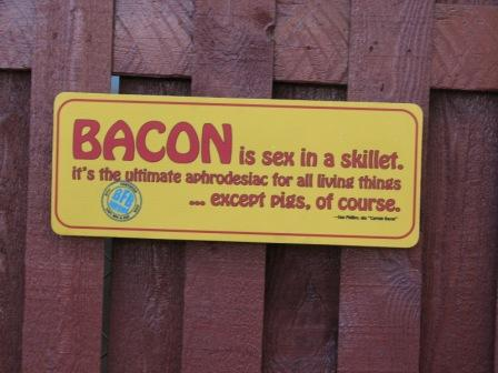 Fair bacon sign