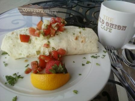 Wild onion breakfast burrito